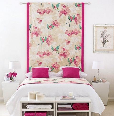 decorar parede com tecido