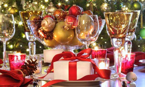 Decorar a mesa da ceia de Natal 001