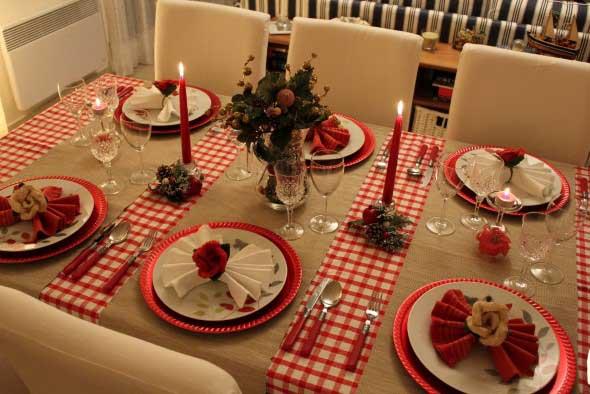 Decorar a mesa da ceia de Natal 002