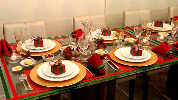 Decorar a mesa da ceia de Natal 003