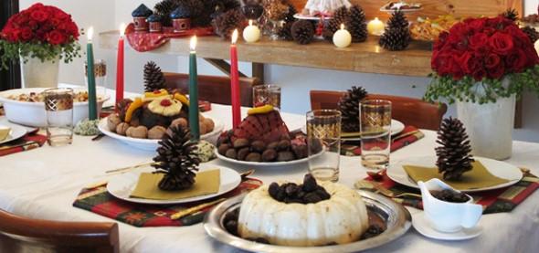 Decorar a mesa da ceia de Natal 004