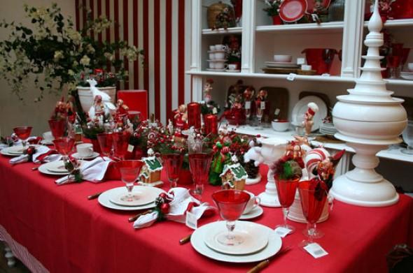 Decorar a mesa da ceia de Natal 005