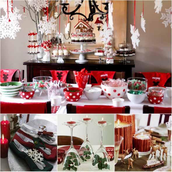 Decorar a mesa da ceia de Natal 006