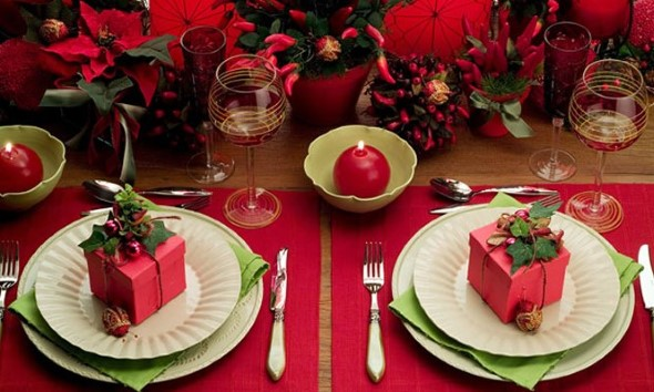 Decorar a mesa da ceia de Natal 007