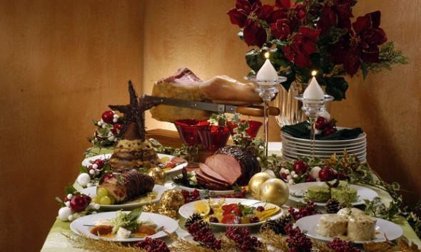 Decorar a mesa da ceia de Natal 008