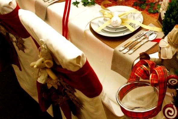 Decorar a mesa da ceia de Natal 010
