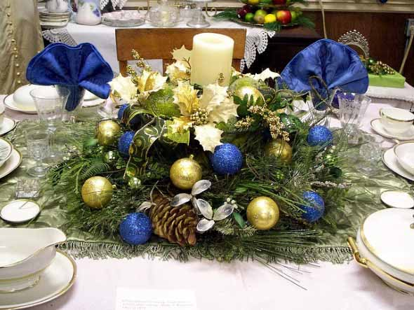 Decorar a mesa da ceia de Natal 011