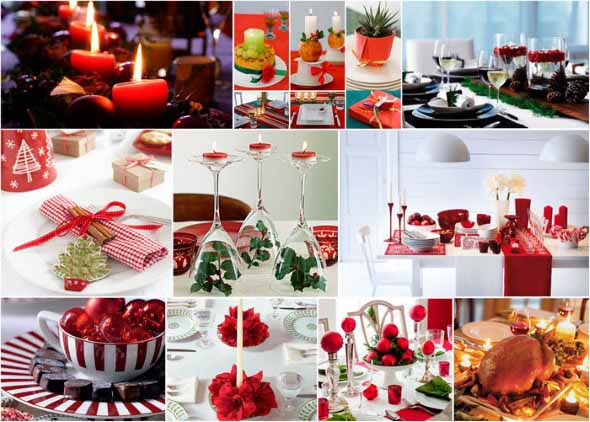 Decorar a mesa da ceia de Natal 014