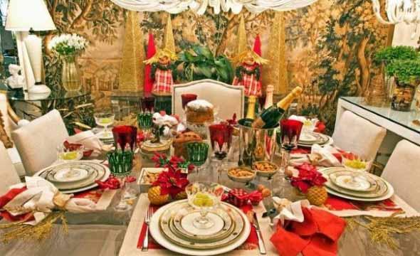 Decorar a mesa da ceia de Natal 015