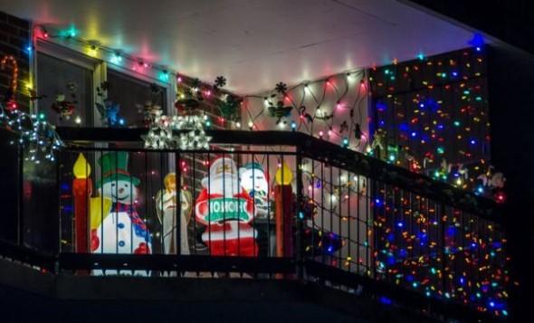 Decorar a varanda de apartamento para Natal 001