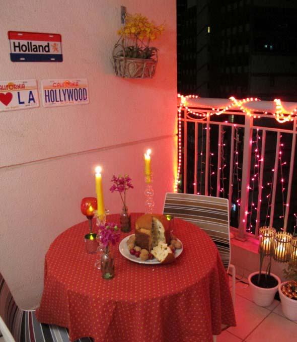 Decorar a varanda de apartamento para Natal 002