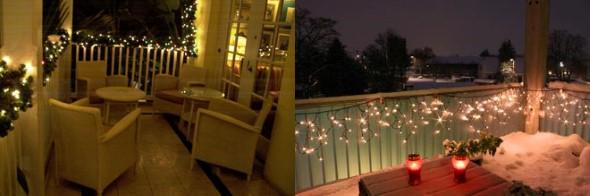 Decorar a varanda de apartamento para Natal 007