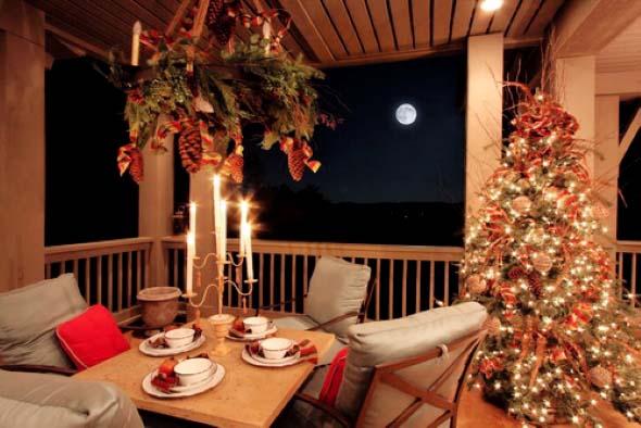 Decorar a varanda de apartamento para Natal 009