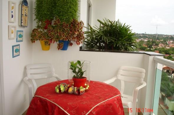 Decorar a varanda de apartamento para Natal 010