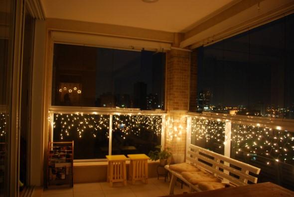 Decorar a varanda de apartamento para Natal 012