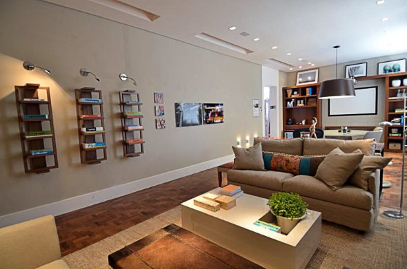 home office e biblioteca da arquiteta - casa cor 2012 - Celina Zappellini