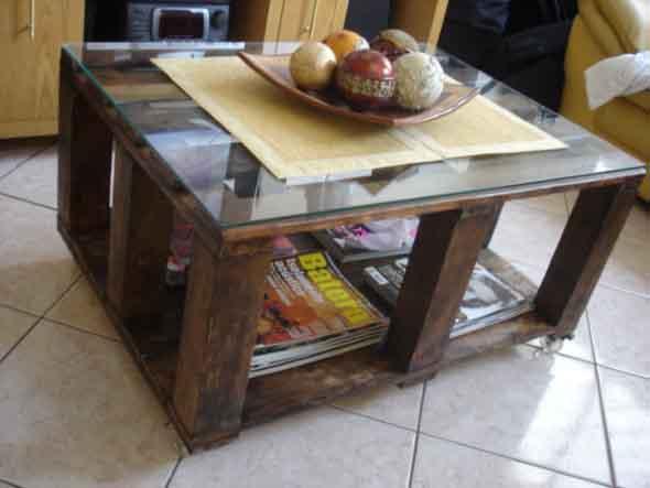 Criar uma mesa com madeira usada 001