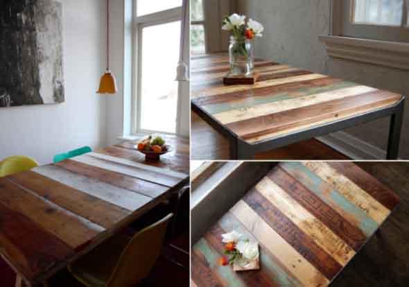 Criar uma mesa com madeira usada 005