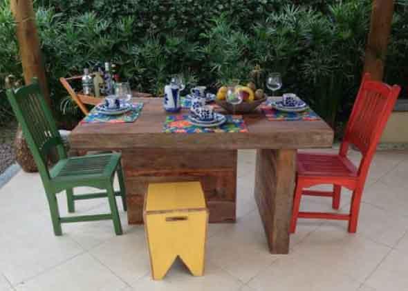 Criar uma mesa com madeira usada 009