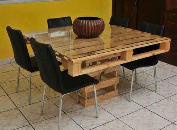 Criar uma mesa com madeira usada 012
