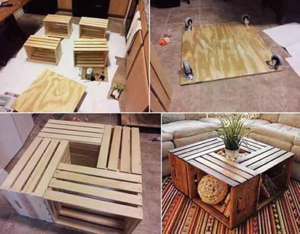 Criar uma mesa com madeira usada 014