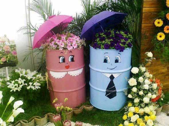 Enfeite para jardim reciclado 002