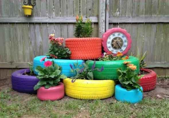 Enfeite para jardim reciclado 011