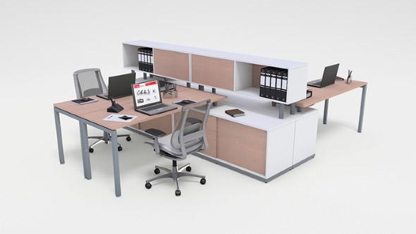 Mesa de trabalho dupla para escritório 003