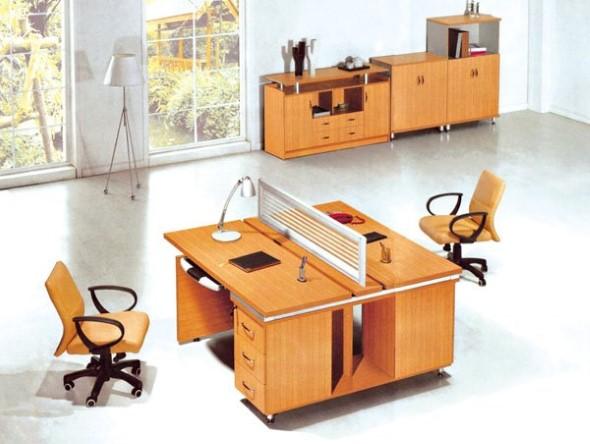 Mesa de trabalho dupla para escritório 007