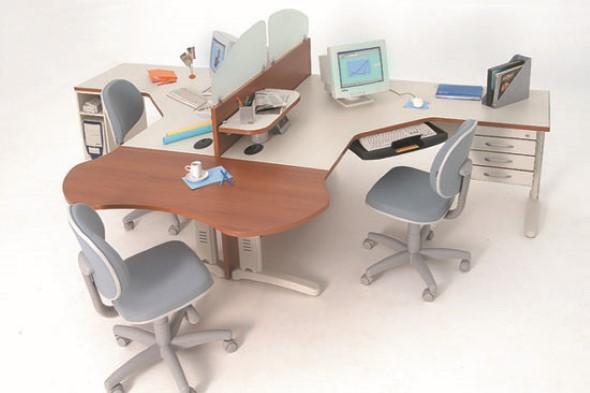 Mesa de trabalho dupla para escritório 009