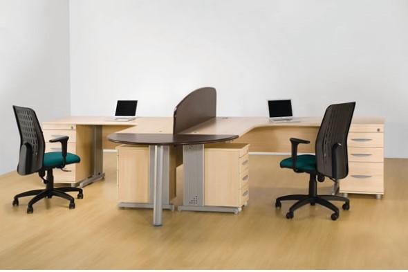 Mesa de trabalho dupla para escritório 010