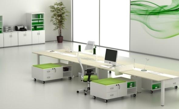 Mesa de trabalho dupla para escritório 012