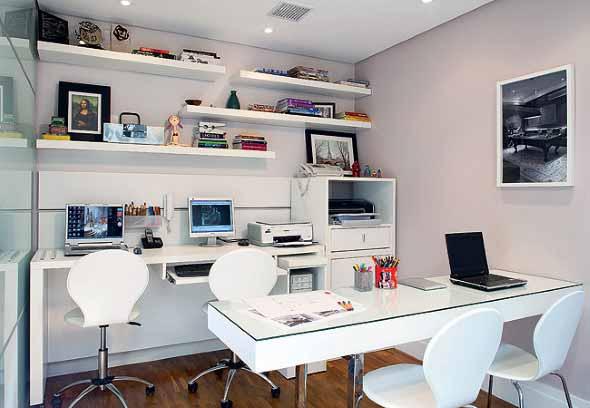 Mesa de trabalho dupla para escritório 014