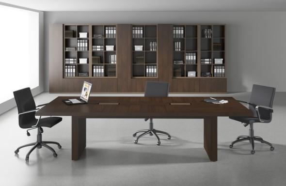 Mesa de trabalho dupla para escritório 016