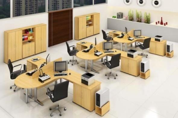 Mesa de trabalho dupla para escritório 017