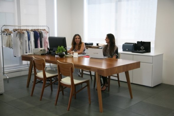 Mesa de trabalho dupla para escritório 018