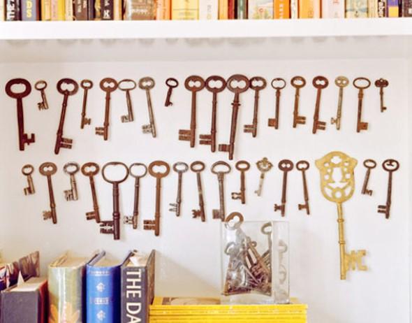 Transforme chaves velhas em objetos de decoração 008