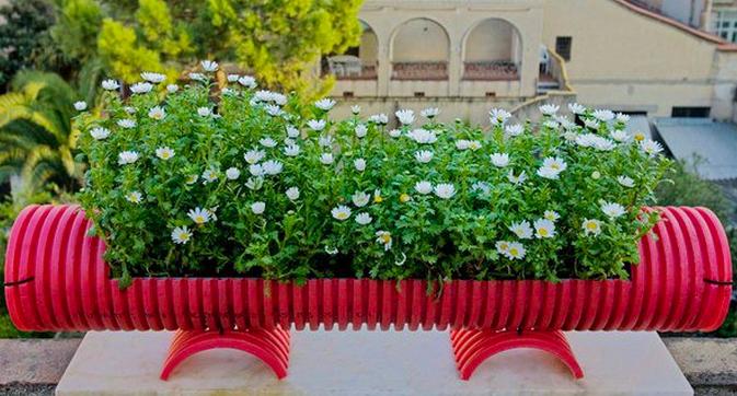 materiais reciclaveis para enfeite de jardim