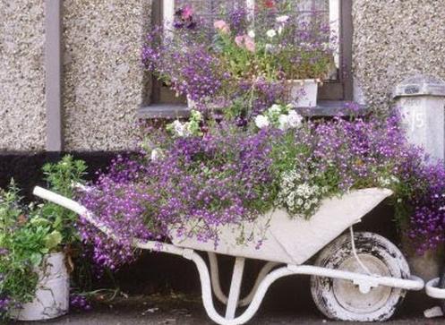 materiais reciclaveis para enfeite de jardim 3