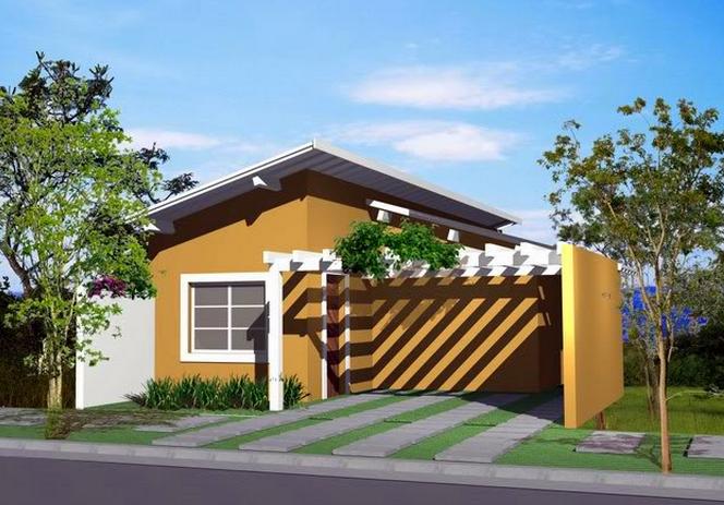 fachada de casa simples 2