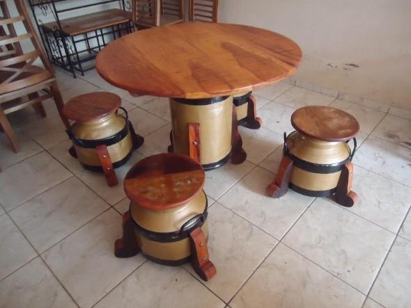 Mesa com tambor como fazer 009