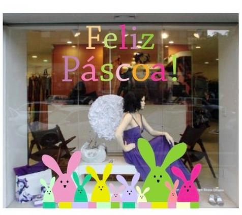 vitrine de loja para pascoa