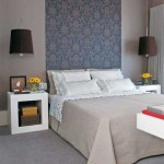 Papel de parede na cabeceira da cama 003