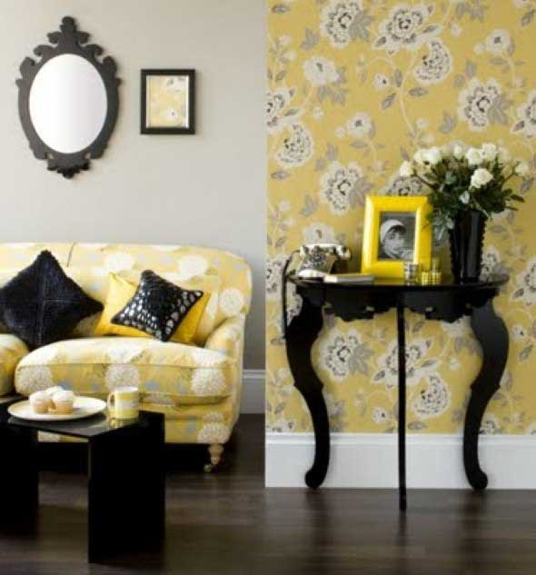 black and yellow living room design 5 dicas para decorar a sala misturando estilo retro e moderno 24556