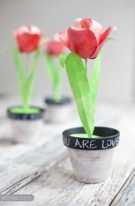 Flores de papel para o Dia das Mães 001