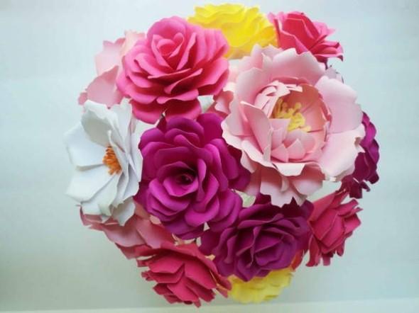 Flores de papel para o Dia das Mães 008