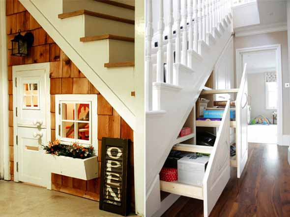 Ideias para aproveitar o vão da escada 003