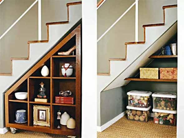 Ideias para aproveitar o vão da escada 004