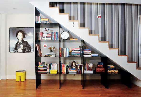 Ideias para aproveitar o vão da escada 008
