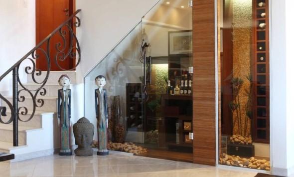 Ideias para aproveitar o vão da escada 012